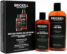 New Brickell Men's Daily Face Care Gel Facial Cleanser Wash, Face Moisturizer.