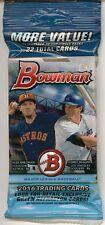 2016 Bowman Baseball - 1 VALUE FAT PACK (Bregman, Seager, RCs?) Rare packs!