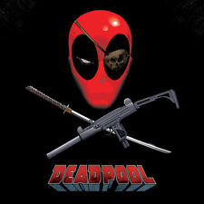 Parche Ocular Deadpool - - Lienzo Enmarcado Listo 40x40cm