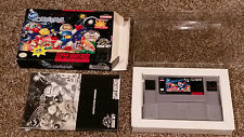 Super Bomberman Super Nintendo SNES Game Small Box Complete CIB Lot CLEAN TESTED