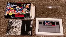 Super Bomberman Super Nintendo SNES Game Small Box Complete CIB Lot CLEAN TESTED
