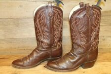 DAN POST MENS BROWN LEATHER COWBOY BOOTS SZ 8