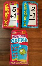 TREND Kids Math Addition, Subtraction Pocket Flash Cards, Numbers Go Fish