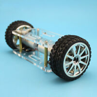 JMT Acrylic Plate Car Chassis Frame Self-balancing Mini Two-drive 2 Wheels 2WD