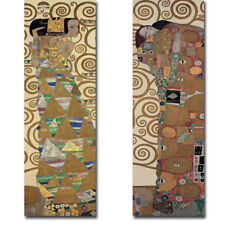 Expectation & Fulfillment by Klimt 2-pc Gallery Wrapped Canvas Giclee Art Set
