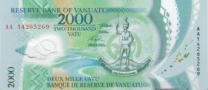 VANUATU : 2.000 VATU 2014 NEUF