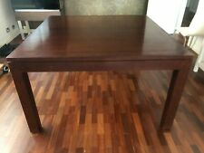 Square Dining Table Solid Wood Seats 8 VGC