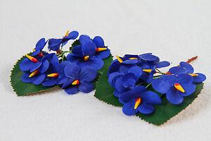 5er Set Blüten Veilchen-Strauß Deko Basteln Blumen 7 x 8,5 cm 129008613