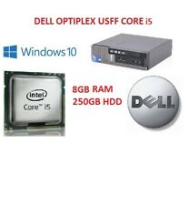 Powerful Cheap Dell 790 USFF Core i5 Computer PC 8GB RAM 250GB HDD Windows 10