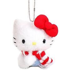 Hello Kitty Muffler Ball Chain Mascot Holder Plush Cute Sanrio japan