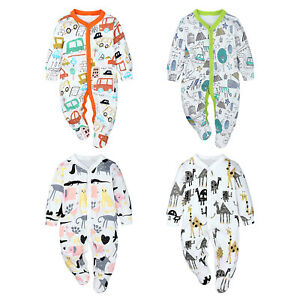 Baby Boys Girls Romper Long Sleeve Bodysuit Spring Fall Jumpsuit Casual Clothing