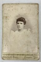 Antique Cabinet Card Young Woman Lady Clarksville Texas 1800s Photo e1