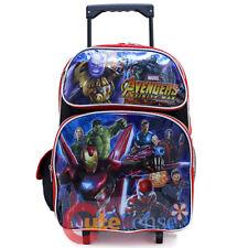 "Marvel Avengers School Roller Backpack 16"" Large Trolley Rolling Bag AIW"