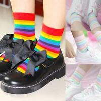 Fashion Summer Girl Women Macarons Color Quality Spring Rainbow Socks-