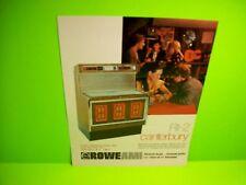 Rowe AMI RI-2 CANTERBURY Original 1977 Phonograph Music Jukebox Promo Flyer