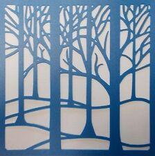 Scrapbooking - STENCILS TEMPLATES MASKS SHEET - Forrest Trees Stencil