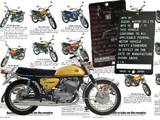 SUZUKI T500 Titan 1971 data plate Frame, Chassis  etc other available , ask us