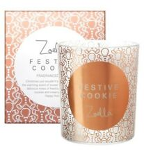 Zoella Lifestyle Festive Cookie Candle . Boxed . Brand New Homeware RRP