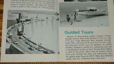 Old Hoover Dam Map Vintage Brochure & Boat Tour Photos US Department Interior