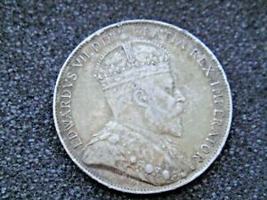 1902 Canada 50 Cents Silver Half Dollar - Scarce Date!