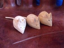 Carved Wooden Mouse 12cm x 2.8cm  Buy as many as you want & only pay one postage