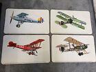 WWI Vintage prints set of 4 Hawker Fury I Bristol Fighter Vickers FB5 Avro 504K