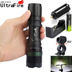 Tactical Zoomable 20000Lumens XM-LT6 LED Flashlight Torch+18650+Charger+Case