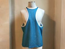 DSQUARED² SUMMER BLUE FRONT & BACK RACER MESH MUSCLE TANK T SHIRT SINGLET S XL