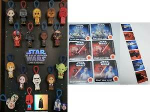 MCDONALD'S 2019 STAR WARS RISE OF SKYWALKER - SET OF 16 + 12 STICKERS - ON HAND
