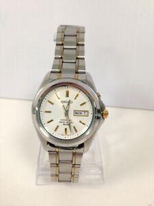 Men's Adult Seiko Kinetic 5M630AC0 761534 Wristwatch Silver Tone #385