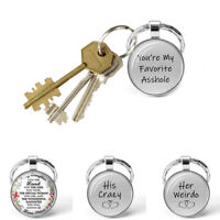Couple Romantic Metal Keyring I Love You Quote Key Chains Valentine Day Gift 1PC