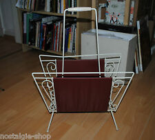50 Piece 60er Jahre Magazine Rack White Red VINTAGE NEWSPAPERS 50S 60S