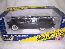 1/18 1956 FORD THUNDERBIRD CONVERTIBLE VINTAGE REVELL BLACK DIECAST CAR-MIB