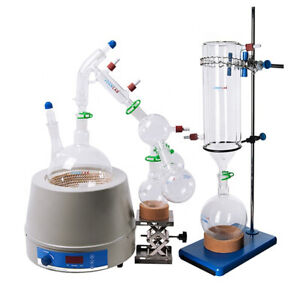 JOANLAB Lab Distillation Kits 2L Short Path with Cold Trap & Heating Mantle