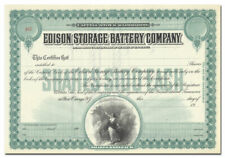 Edison Storage Battery Company Stock Certificate