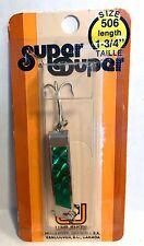 """Luhr-Jensen Vintage Super Duper Chrome / Green Size 506, 1-3/4"""" long"""