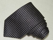 BOSS HUGO BOSS NECK TIE PLAIDS/CHECKS PATTERN NAVY SILK MEN'S TIE MADE IN ITALY