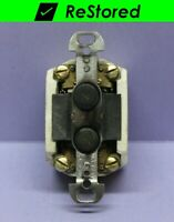 ⭐ Vintage Circle F Double-Pole Toggle Switch USA Key Keyed Lock Security DPST