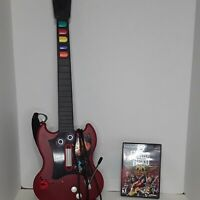PS2 Guitar Hero Red Octane PSLGH SG Red Wired Controller( with Strap)