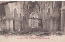CPA GUERRE 14-18 WW1 REIMS 42 intérieur église saint-jacques
