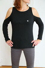 bel maglione angora nero spalla solo corpo macchina MET IN JEANS chafee/w