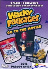 2018 Topps Wacky Packages Go to the Movies EXCLUSIVE Factory Sealed Blaster Box