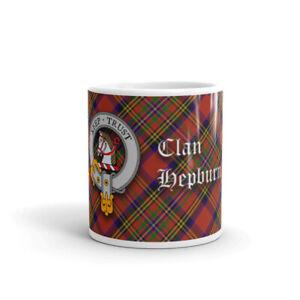 Hepburn Clan Crest Coffee / Tea Mug - Scottish Cup 10oz / 295ml