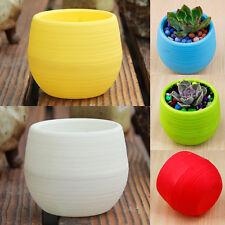 5 couleurs plastique rond fleur pot plantes succulentes de jardin décor maison