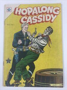1954 SPANISH MEXICAN COMICS HOPALONG CASSIDY #2 VAQUEROS NOVARO MEXICO MEXICAN