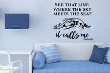 Inspired by Moana Wall Decal Sticker See That Line Where The Sky Meets The Sea I