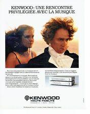 PUBLICITE ADVERTISING 027  1980   Kenwood  chaine hi-fi ampli