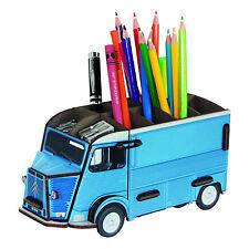 Stiftebecher Stiftebox französischer Lieferwagen Citroen HY, blau, Steckbausatz