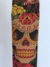 Halloween Skull Tattoo Sleeve Day Of The Dead Dia De Los Muertos Bold Colors
