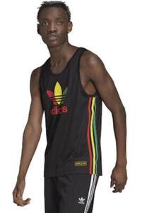 NEW Mens Adidas Chile 20 Vest Tank Top Gym Casual Rasta Regga Ltd Edition Retro